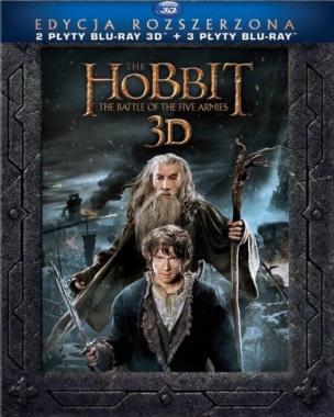 Hobbit Bitwa Pięciu Armii Edycja Rozszerzona 3D PL BLU-RAY