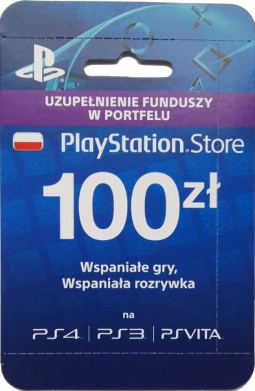 Karta PlayStation Network 100zł