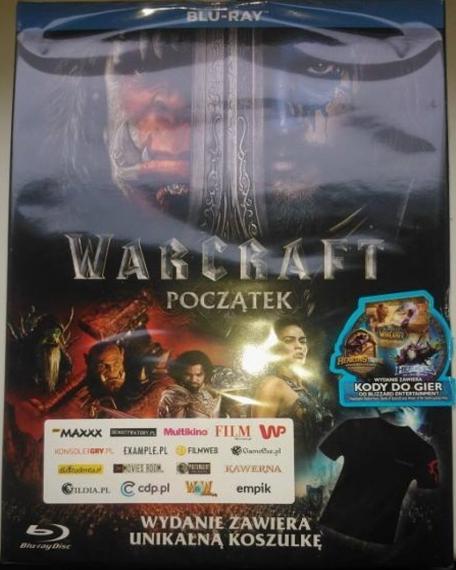 Warcraft Początek + Koszulka + Kody Blu-Ray