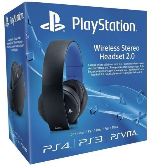 Wireless Stereo Headset 2.0 Black Sony PS4/PS3/PSV/PC