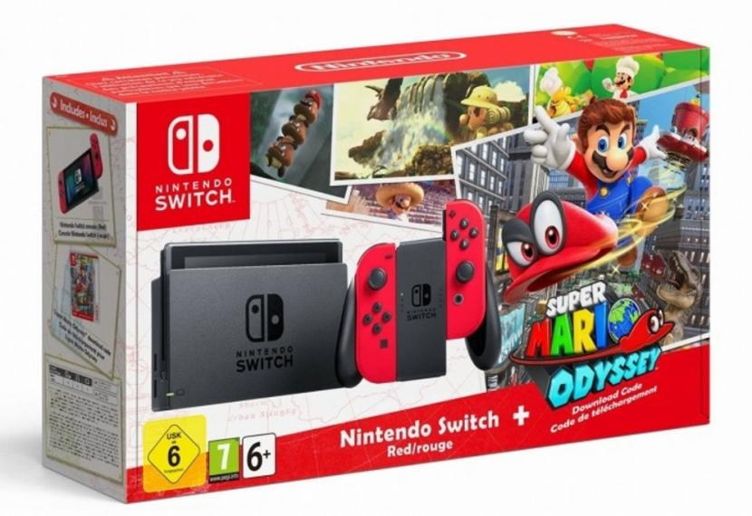 Konsola Nintendo Switch Red Mario Odyssey Edition