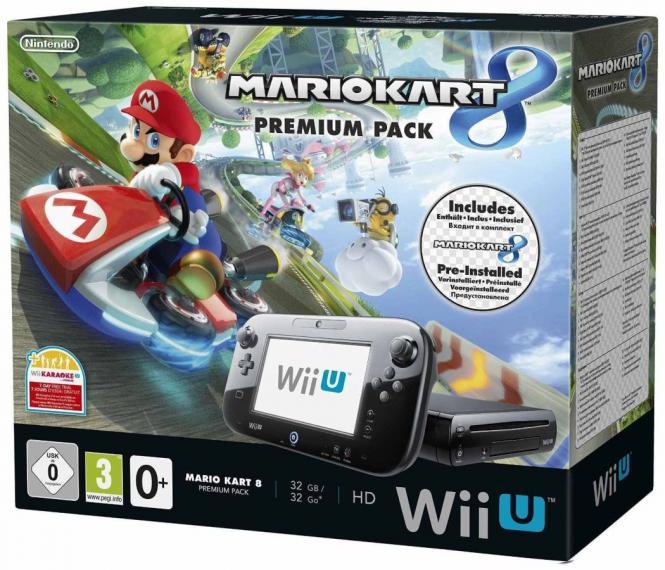 Nintendo Wii U 32GB Premium Pack Czarna + 9 Gier Używana