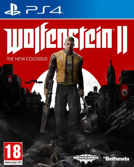 Wolfenstein 2 The New Colossus + Opaska PS4