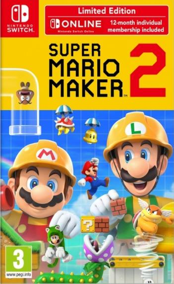 Super Mario Maker 2 + NSO Limited Edition SWITCH