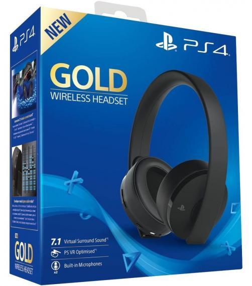 Zestaw słuchawkowy SONY PlayStation Gold Wireless 7.1 Black