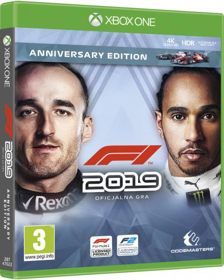 F1 2019 Anniversary Edition PL XBOX ONE