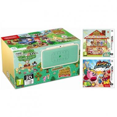 New 2DS XL Animal Crossing Edition AC New Leaf + AC HHD + Kirby BR
