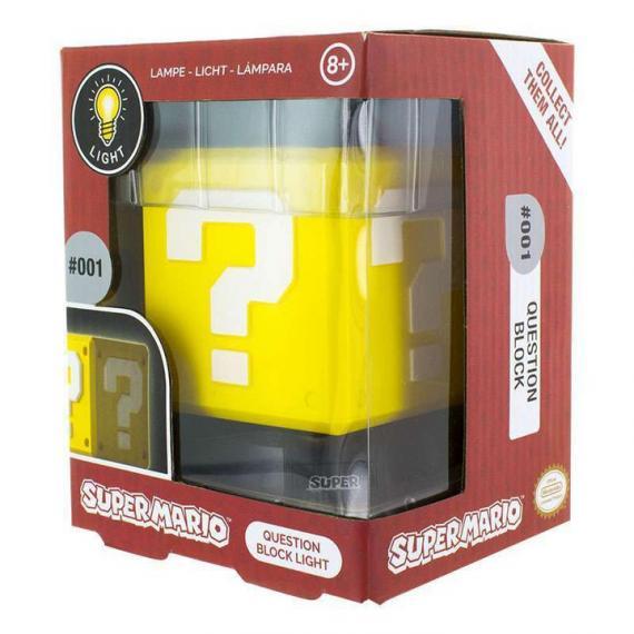 Super Mario Question Block Lampa 3D