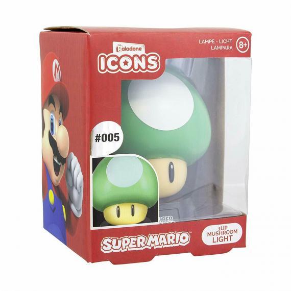 Super Mario Mushroom Lampa 3D
