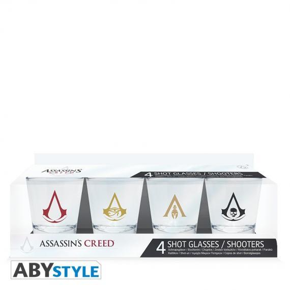 Assassin's Creed - Emblems Zestaw kieliszków 4 x 50 ml