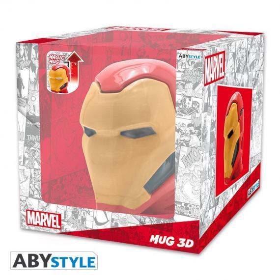 Marvel Iron Man Kubek 3D zmieniający kolor 450 ml