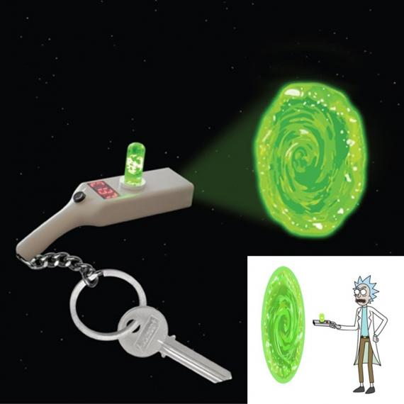 Rick and Morty Portal gun Brelok z latarką